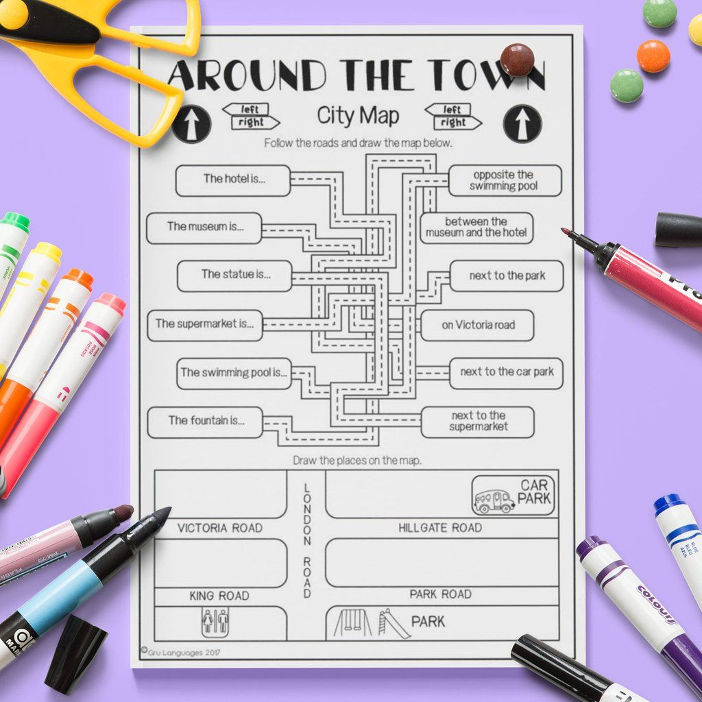 Around The Town City Map English