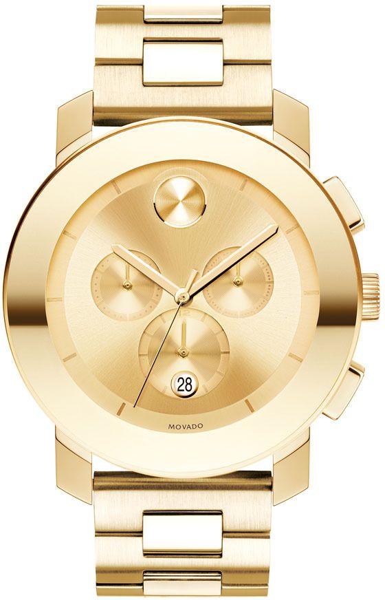 Movado 'Large Bold Chronograph' Bracelet Watch, 43mm