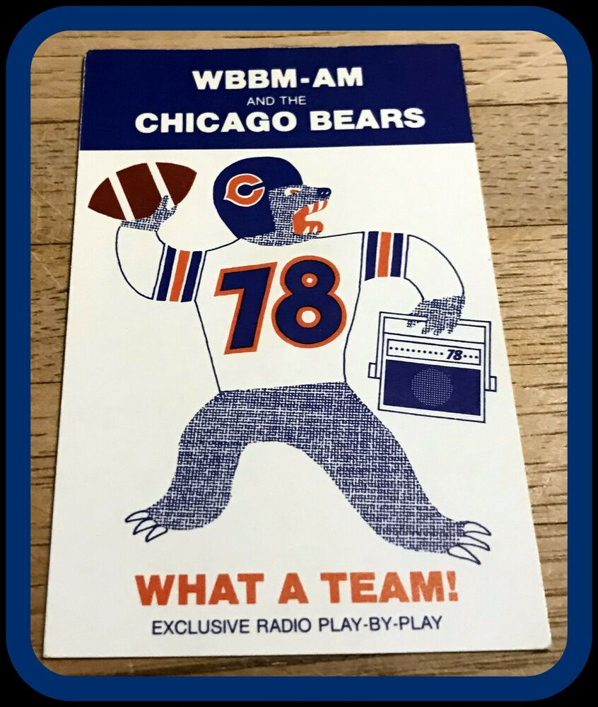 1983 CHICAGO BEARS STROHS BEER FOOTBALL POCKET SCHEDULE
