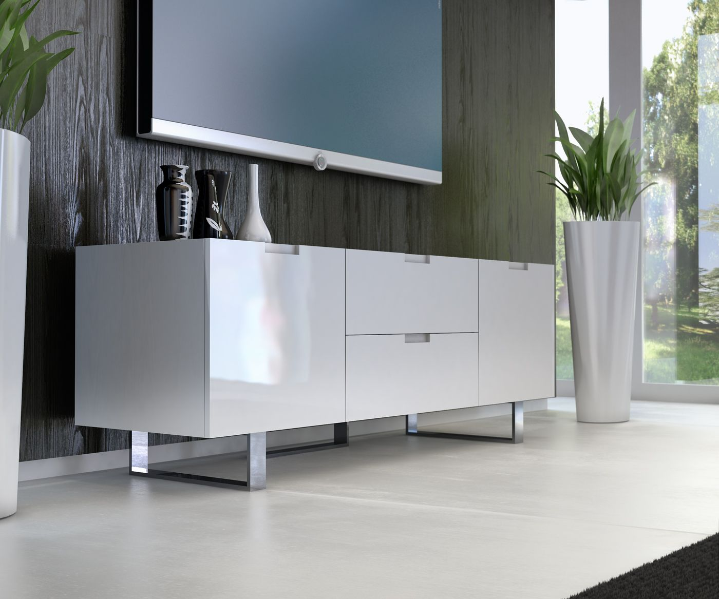 Modern Furniture Tv Stands eldridge media cabinet | media cabinet, tv stands and door opener