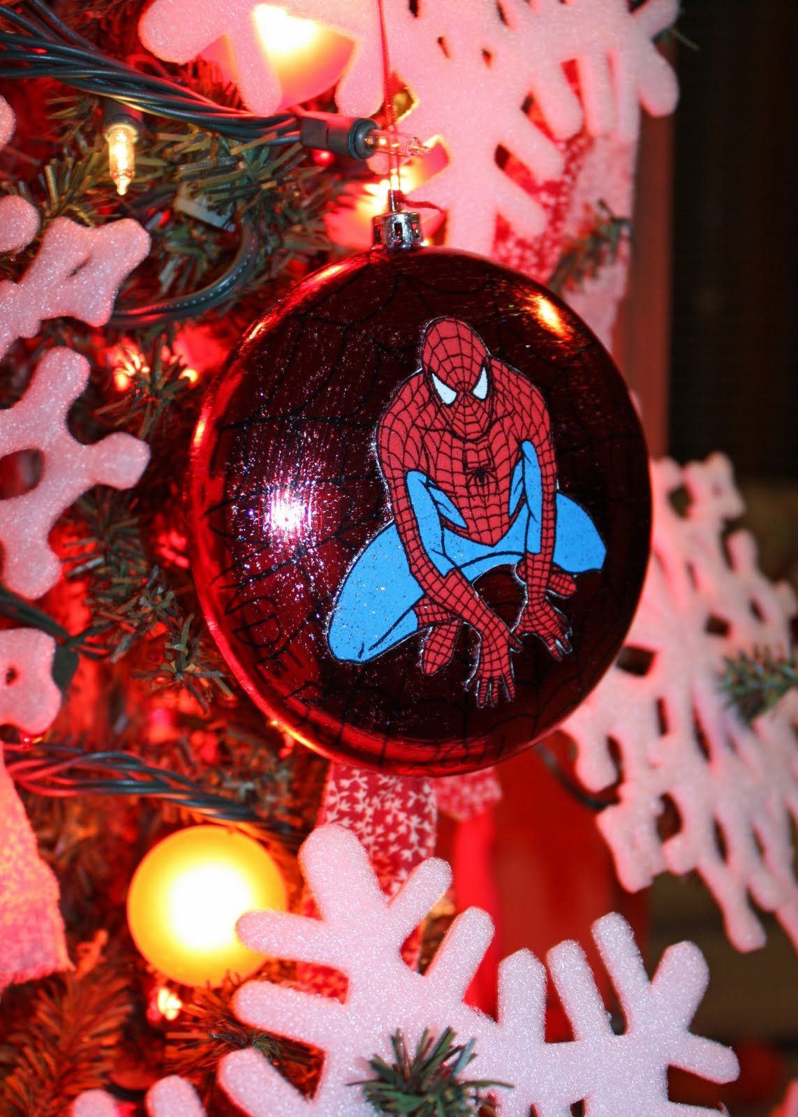Every Year I Make Peepers A Ornament For Christmas His First Christmas I Used Fimo Clay Made A Hand Print Christmas Ornaments Spiderman Christmas Ornaments