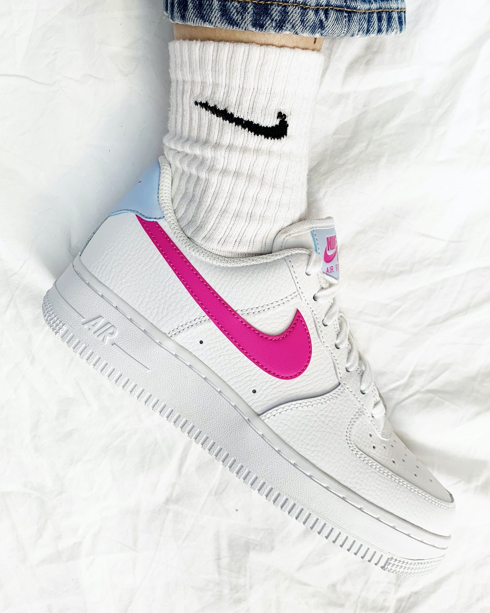 Nike Air Force 1 '07 White Fire Pink