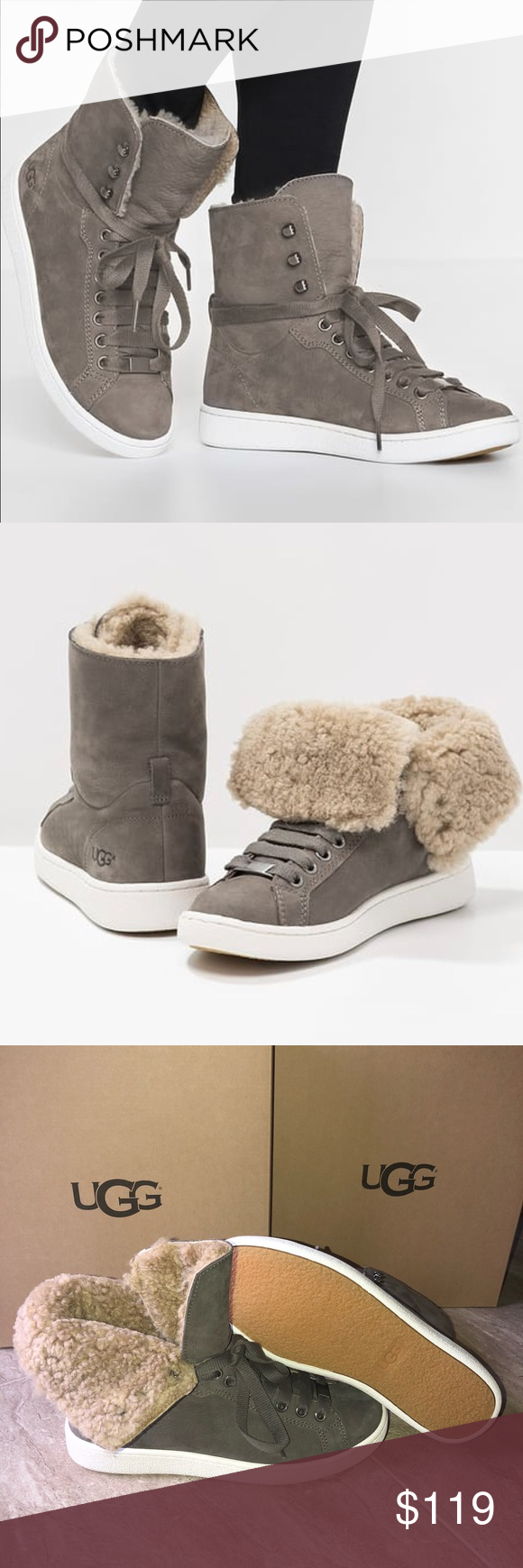 008afe59a2d Ugg starlyn high top sneakers MOUSE Brand new with box. Mouse color ...