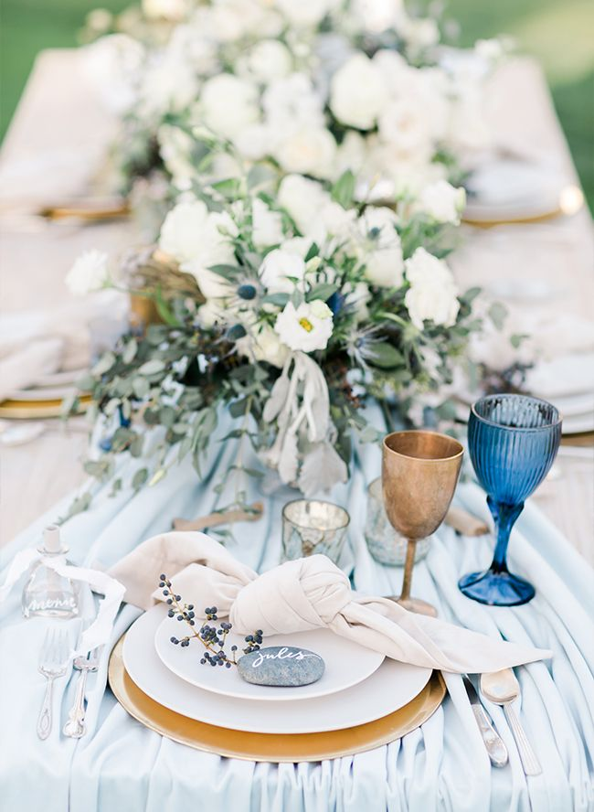 3 Home Decor Trends For Spring Brittany Stager: Modern Blue Beachside Wedding Inspiration