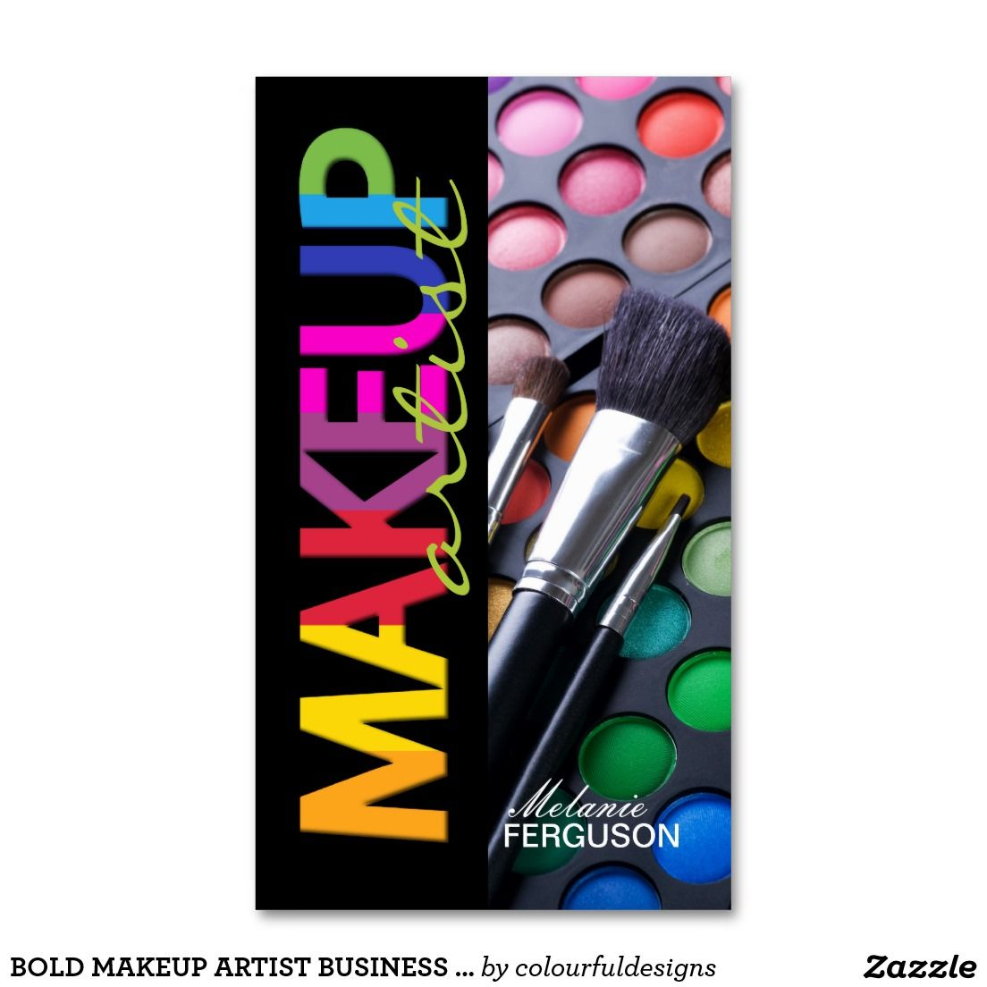 Bold makeup artist business card ideias pinterest ateli e bold makeup artist business card reheart Image collections