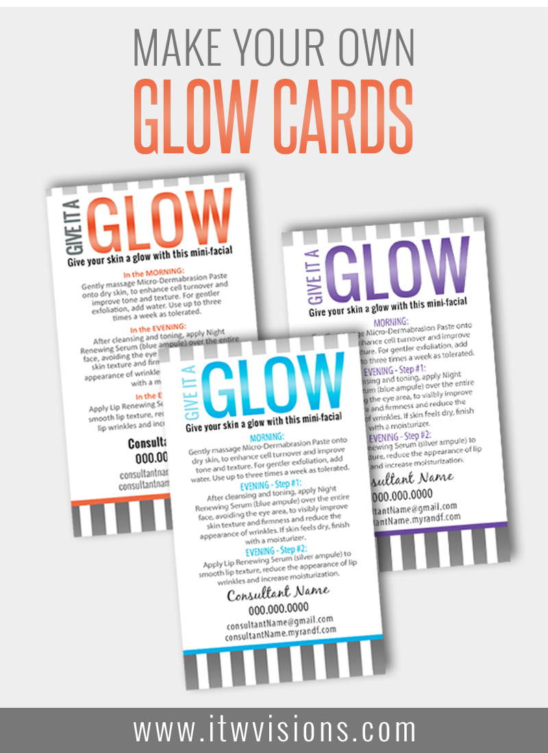 customize your own mini facial glow cards at itwvisions.com. rodan ...