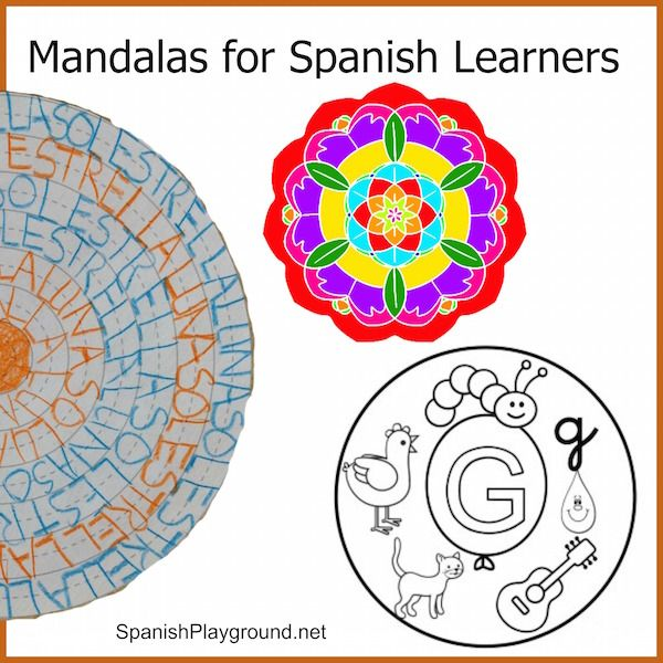 Mandala Coloring Pages for Spanish Learners | Mandala coloring ...