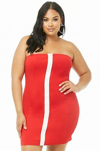 ee529623a74 Plus Size Zip-Front Bodycon Dress