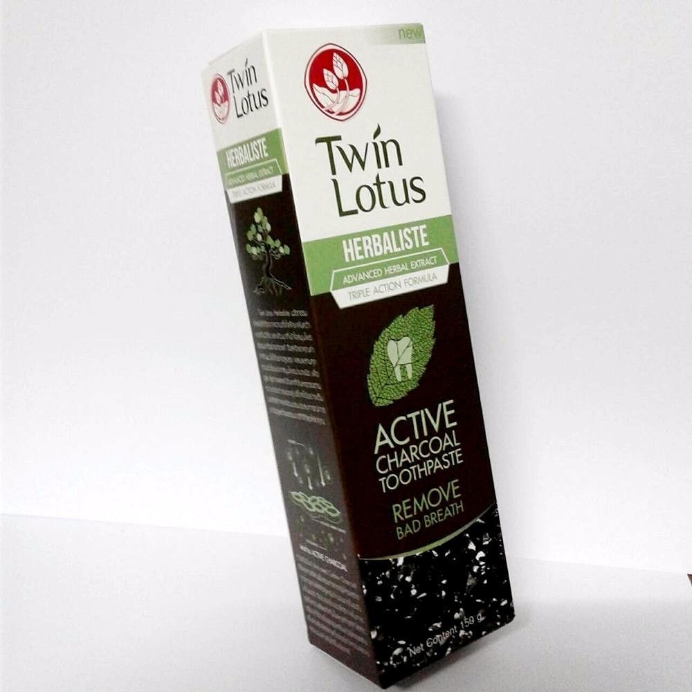 Twin Lotus Toothpaste Charcoal Herbaliste Active Triple Action Teeth Clean Breat Twinlotus Starbucks Double Shot Can Energy Drink Can Ebay