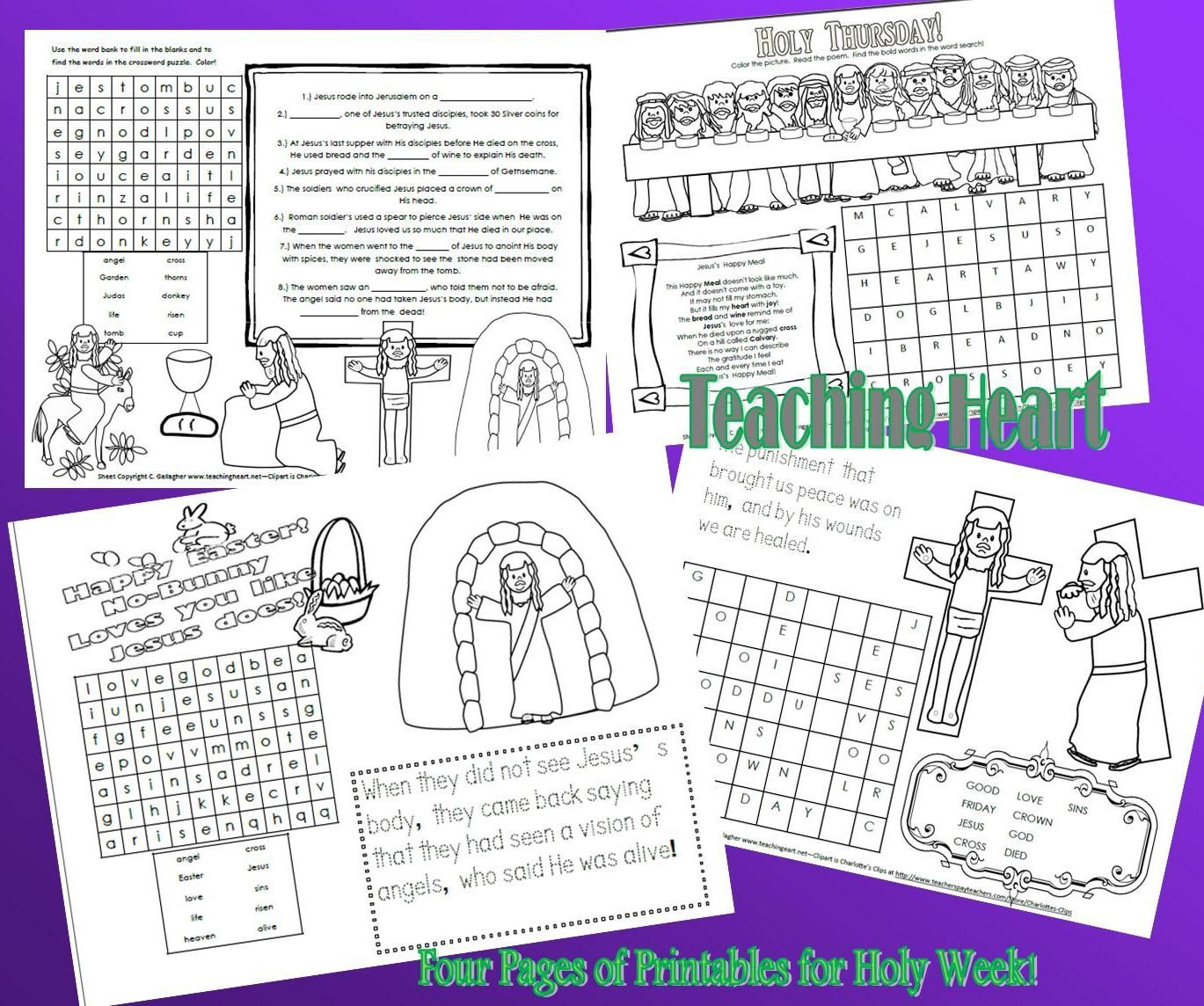 Holy Week Printable Set Kids