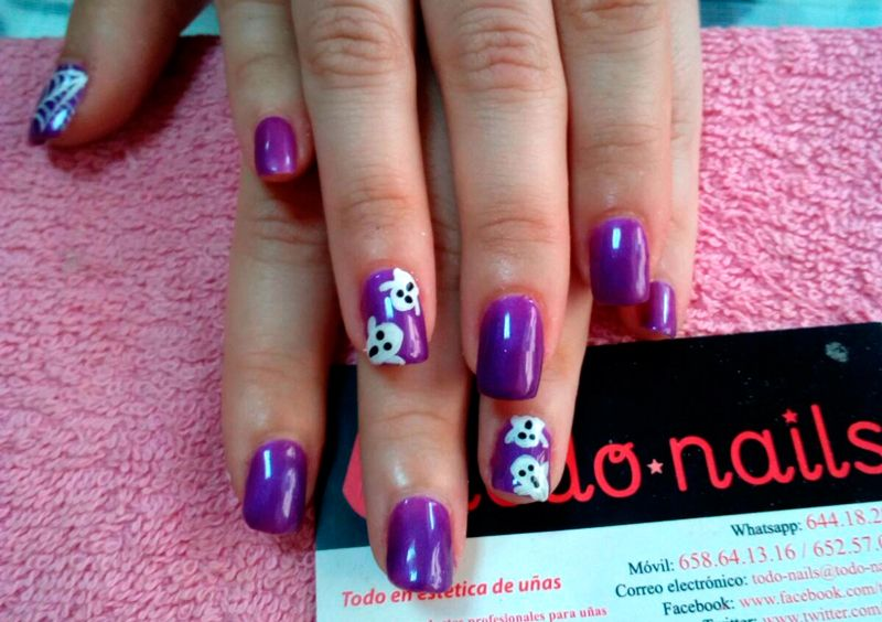 U as para decoradas para halloween y con esmalte permanente u as decoradas por todo nails - Unas permanentes decoradas ...