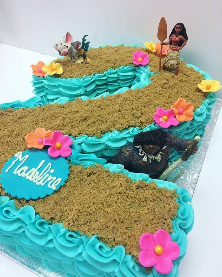 Moana 2nd Birthday CAKE Cakes Party Ideas Toddler Themes