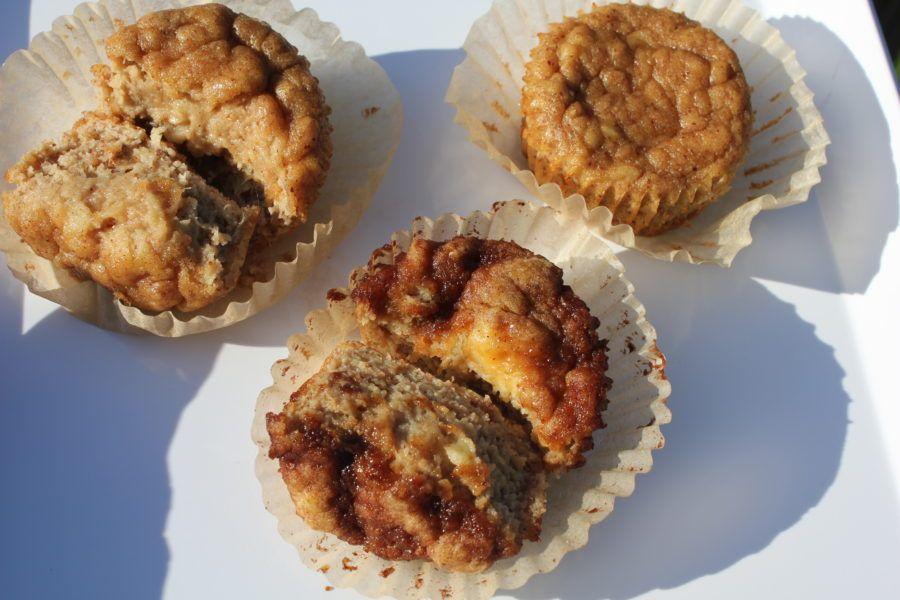 paleo banana muffins with optional cinnamon glaze