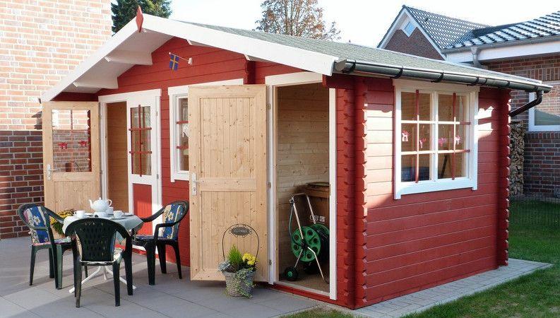 Borkum 4 Gartenhaus Im Schwedenstil Gartenhaus Gartenhaus Kaufen Gartenhaus Holz