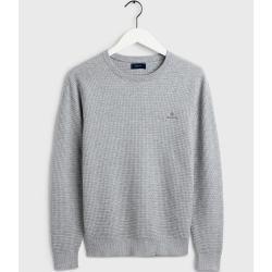 Photo of Gant Signature Weave Pullover (Grau) Gant