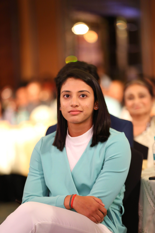 Indian Women S Cricketer Smriti Mandhana At Nbt Utsav Awards 2019 Smriti Mandhana India Cricket Team Indian Women