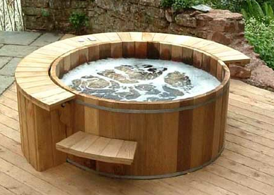 Wine Barrel Hot Tub I Also Want To Dig One Into The Ground As A