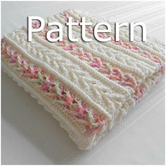 How to Crochet the Arrow Stitch Crochet Afghan | Mantas para bebes ...