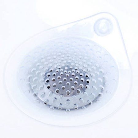 Slipx Solutions Water Drop Hair Catcher Clear Shower Drains