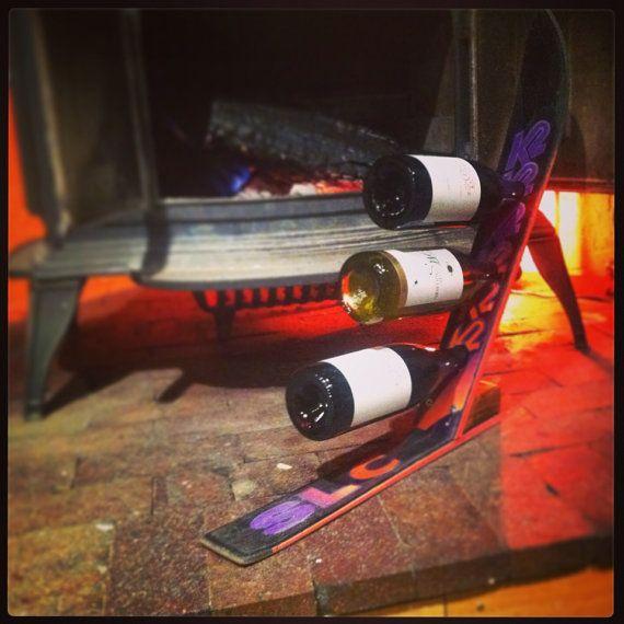 16 Things To Do In Vail Beyond Skiing: Vintage K2 SLC Comp Ski Wine Rack 3 Bottles 80's