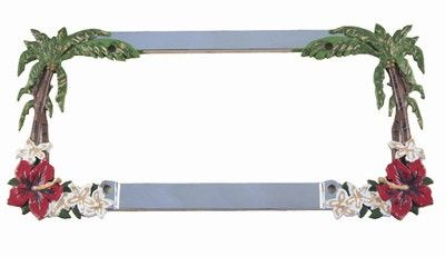 Da Palm Tree License Plate Frame Misc License Plate