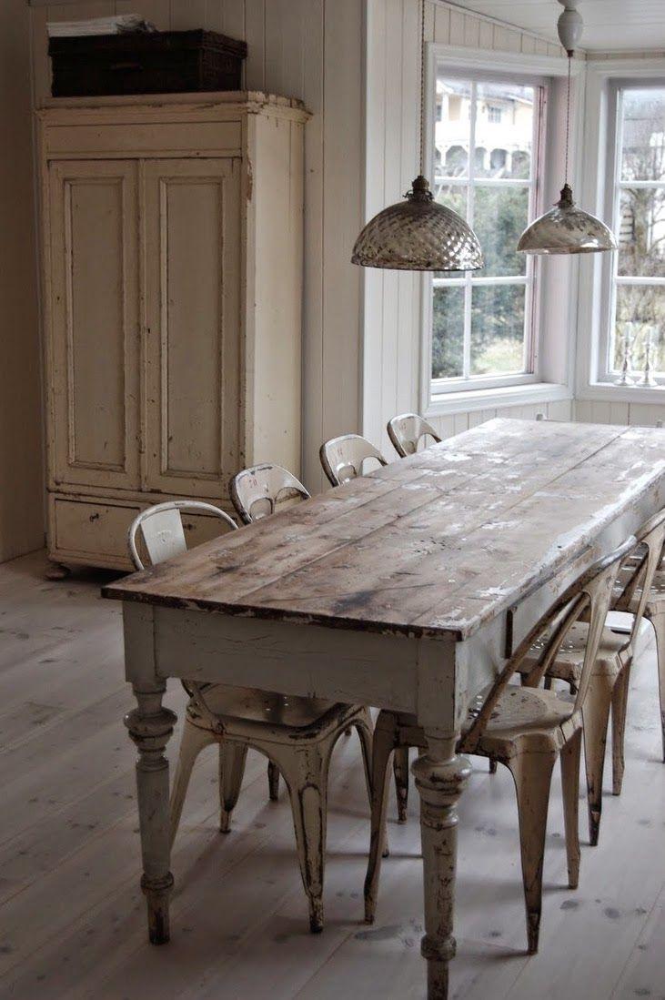 Bord matsalsbord shabby chic