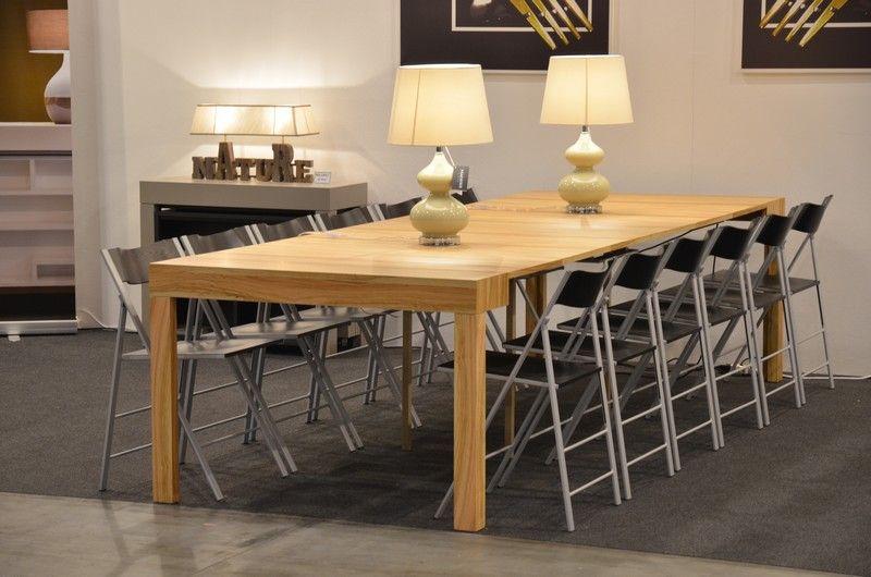 Tavolo consolle Maya Standard aperto, finitura legno Olivo | home ...
