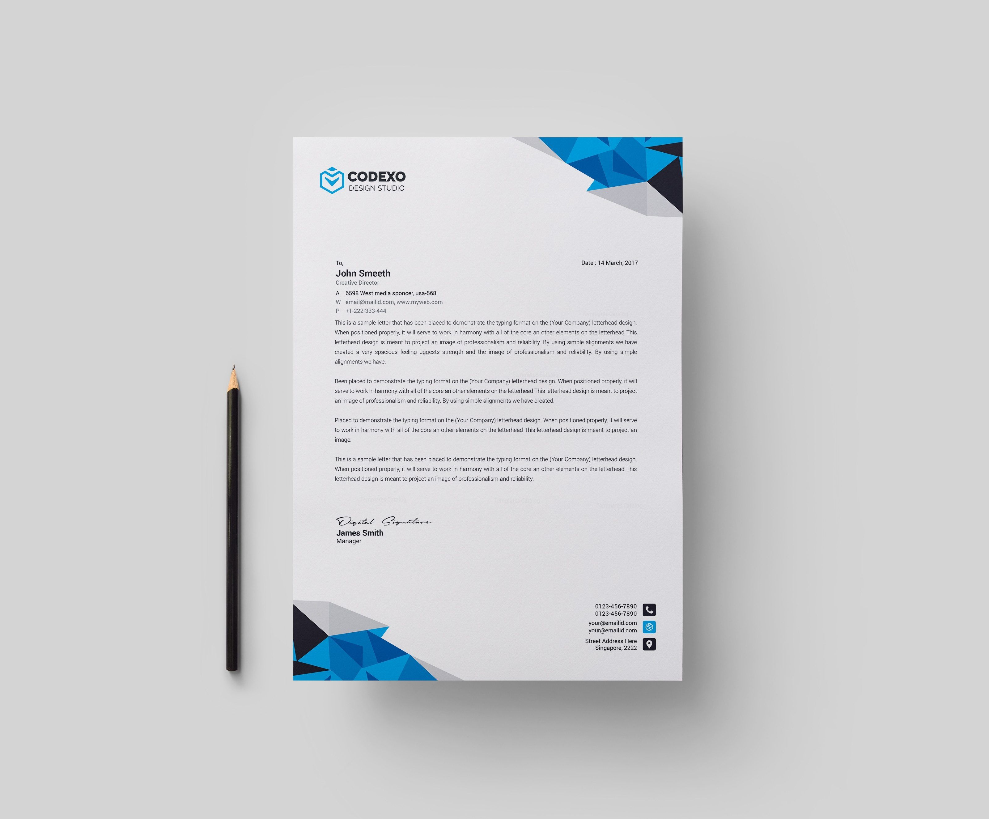Diamond Professional Corporate Letterhead Template 000904 Template Catalog Company Letterhead Template Professional Letterhead Template Business Letter Template
