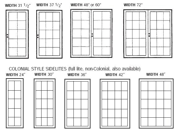 Pretty standard french door size on this standard size chart is to be used as a size reference Standard size french doors exterior