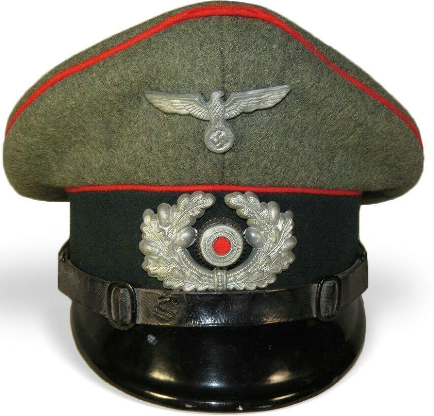 4d19dd1c096 3rd Reich Wehrmacht Heeres Artillery visor hat for NCO s- Visor Hats ...