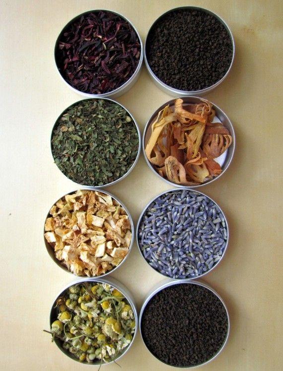 Homemade herbal tea varieties