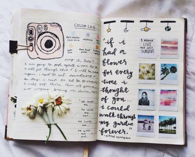 fleurisste journal pinterest tagebuch notizbuch und kalender organisation. Black Bedroom Furniture Sets. Home Design Ideas