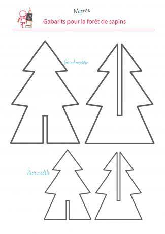 Une Forêt De Sapins Deco Noel Décoration Noel Enfant Et