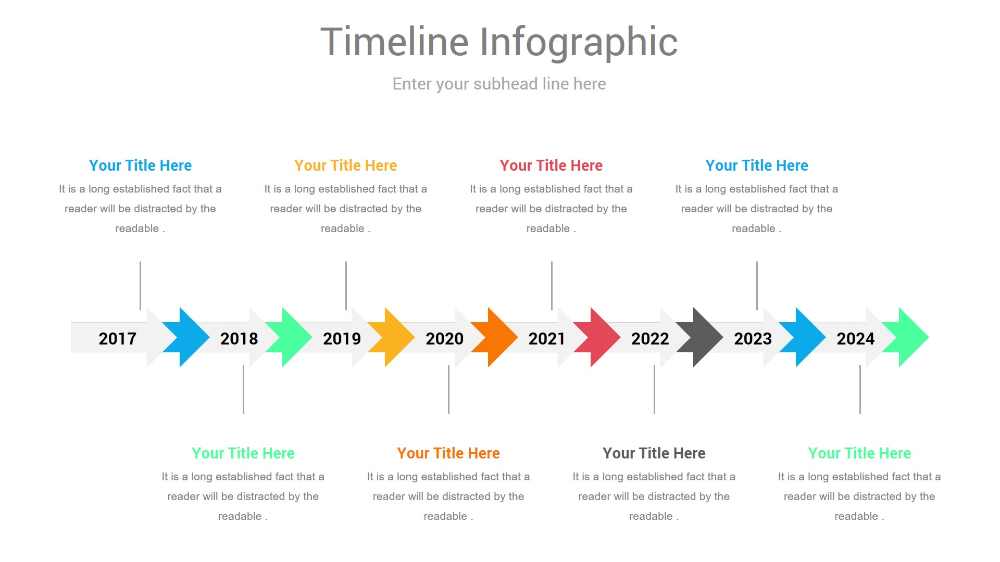 parallel timeline powerpoint design in 2020 infographic