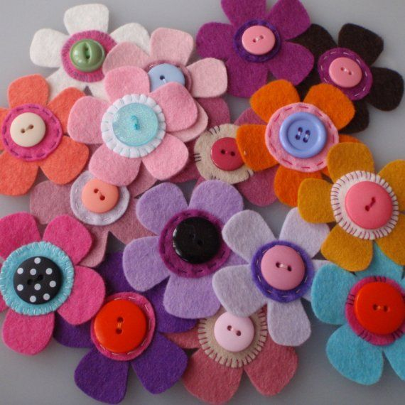 fun fabric flowers