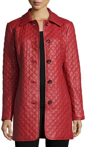 Neiman Marcus Long Quilted Leather Jacket | leather | Pinterest ... : neiman marcus quilted leather jacket - Adamdwight.com