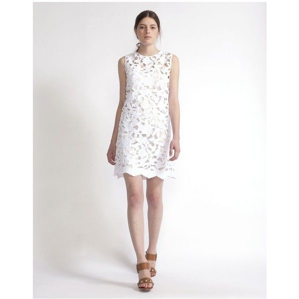 Cynthia Rowley Fl Lace A Line Dress 525 Liked On Polyvore Featuring Dresses Mini White Print