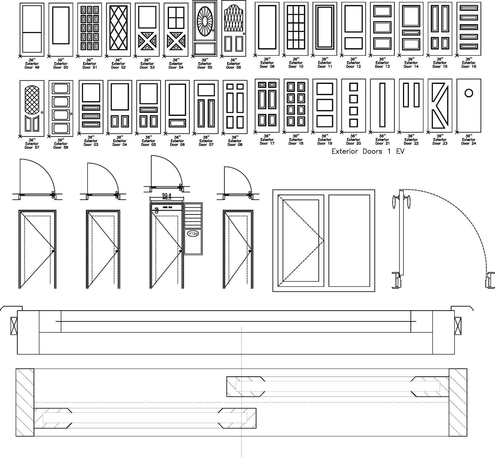 Autocad archicad revit lumion artlantis arcgis clases for Simbologia arquitectonica para planos
