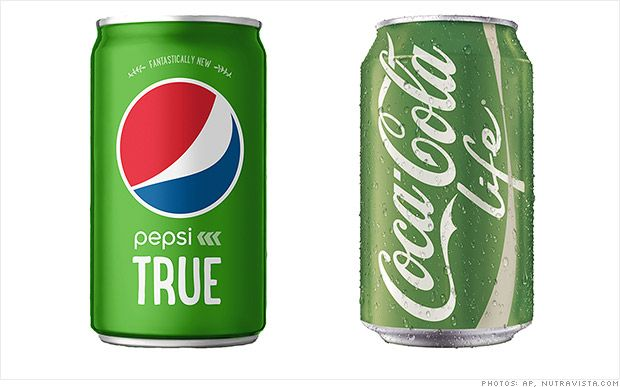 Coke And Pepsi Launch Competing Green Stevia Sodas Pepsi Stevia Drinks Stevia