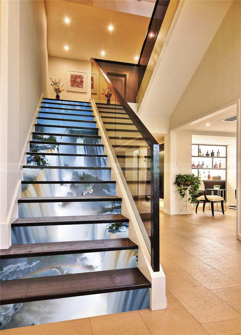 Best 3D Beautiful Waterfalls Scenery 672 Stair Risers Stair 640 x 480