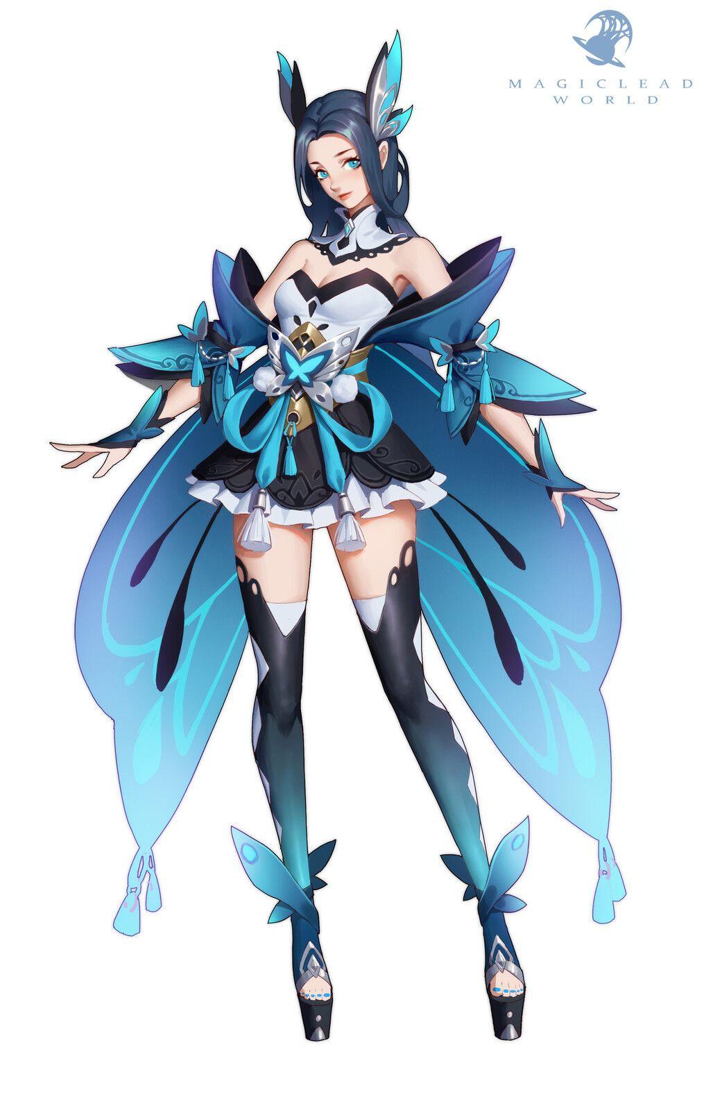 ArtStation 蝶灵, Yu Xiyan in 2020 Character design
