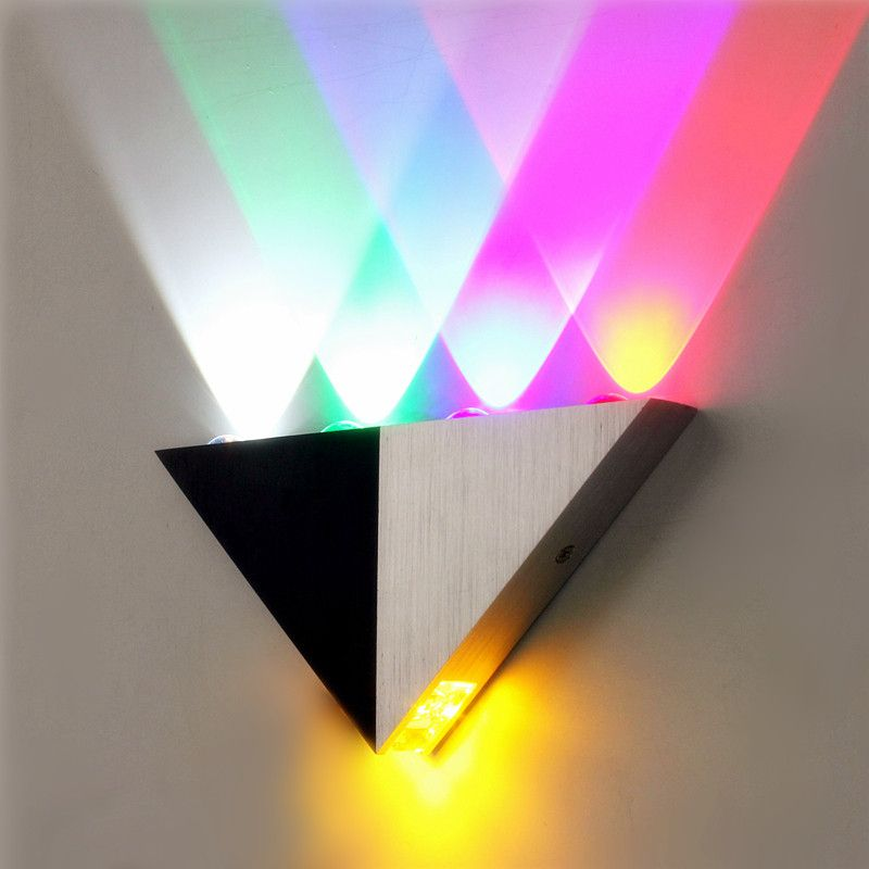 Multi Color Triangle 5w Led Wall Sconce Lamp Up Down Indoor Lighting Wall Lights Modern Wall Lights Wall Sconces Bedroom