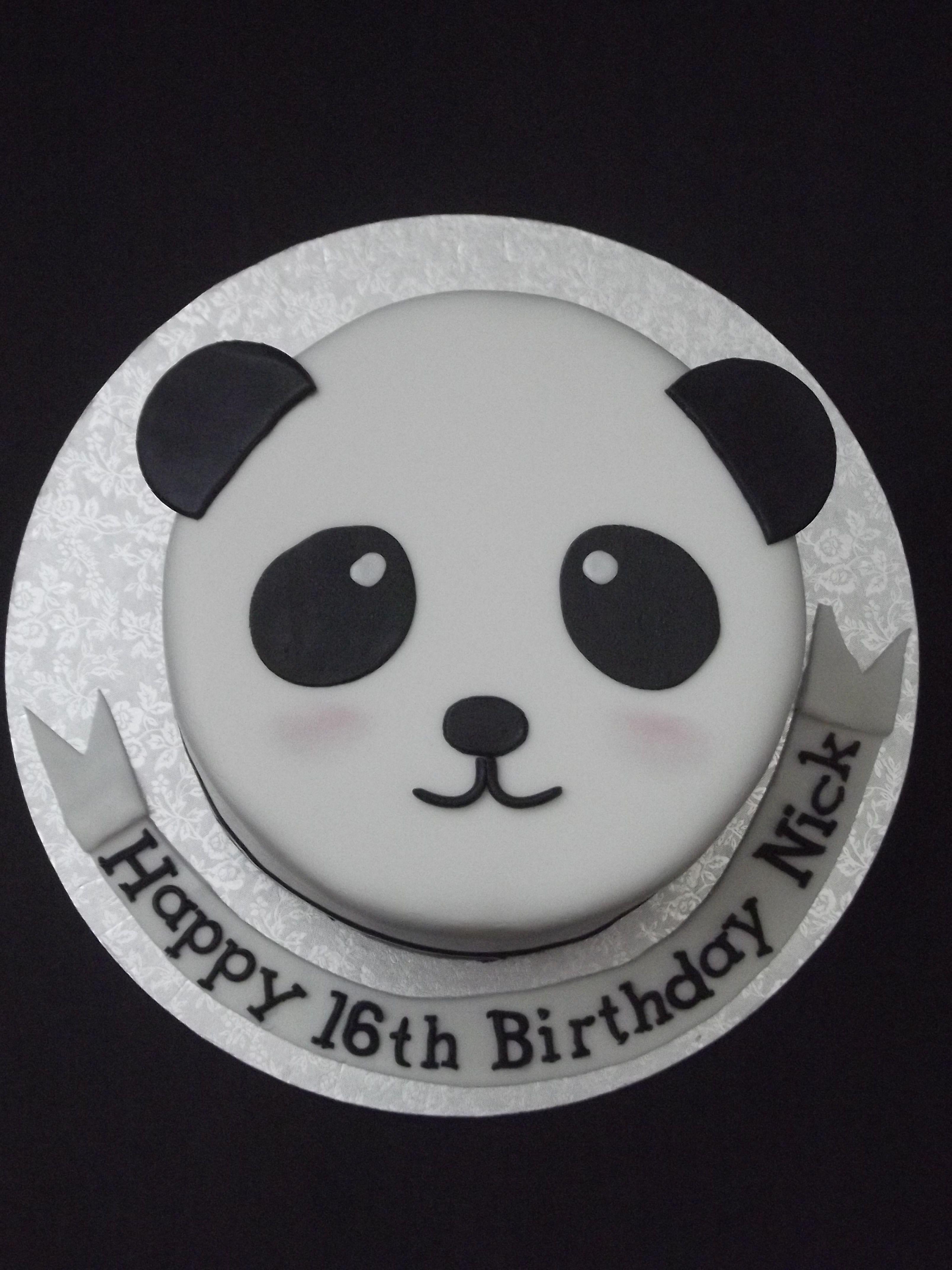 panda bear cake happy birthday pinterest panda bear cake