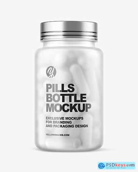 Download Frosted Pills Bottle Mockup 58868 In 2020 Pill Bottles Bottle Mockup Bottle PSD Mockup Templates