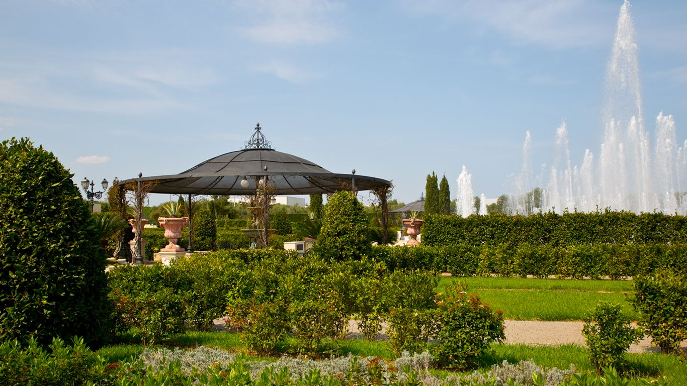 Giardini e fontane a New Lions Ricevimenti
