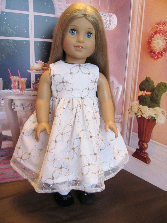 Doll wedding dress  Letus Party  uu Doll Dress as seen on an American Girl  Pretty