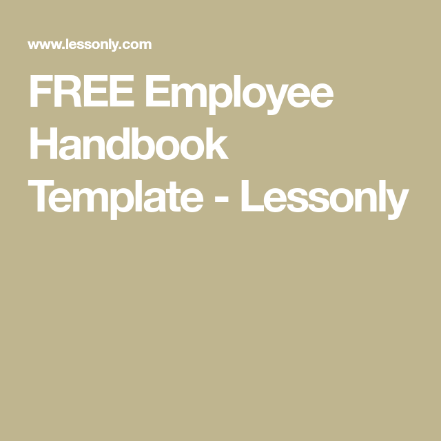 Free Employee Handbook Template  Lessonly  Cleanlight