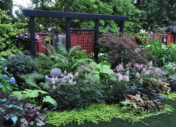 a garden in the shade - Shaded Flower Garden Ideas