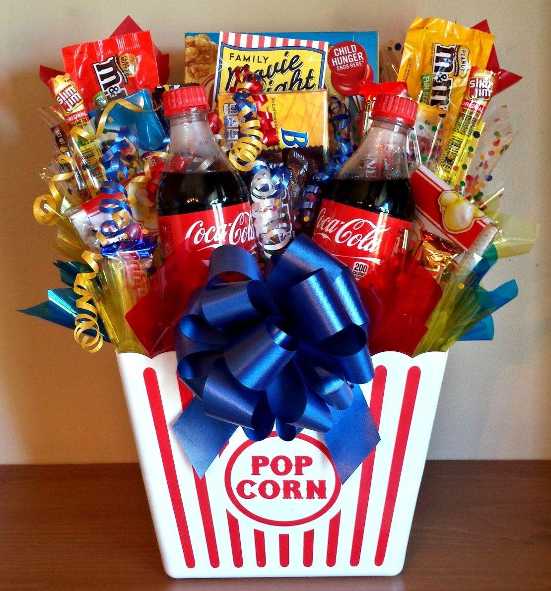 Movie Night Gift Box Giftidea Movielover Birthday Christmas Secretsanta Forlance Forlinda Movie Basket Gift Homemade Gift Baskets Christmas Gift Baskets