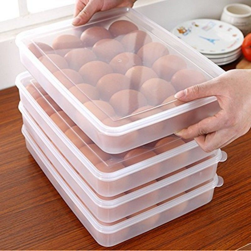 Connectwide Clear Plastic Egg Container Box 24 Eggs Https Connectwide Com Home Decor Organizer 739 Clear Plastic Egg Con Egg Storage Egg Container Egg Holder